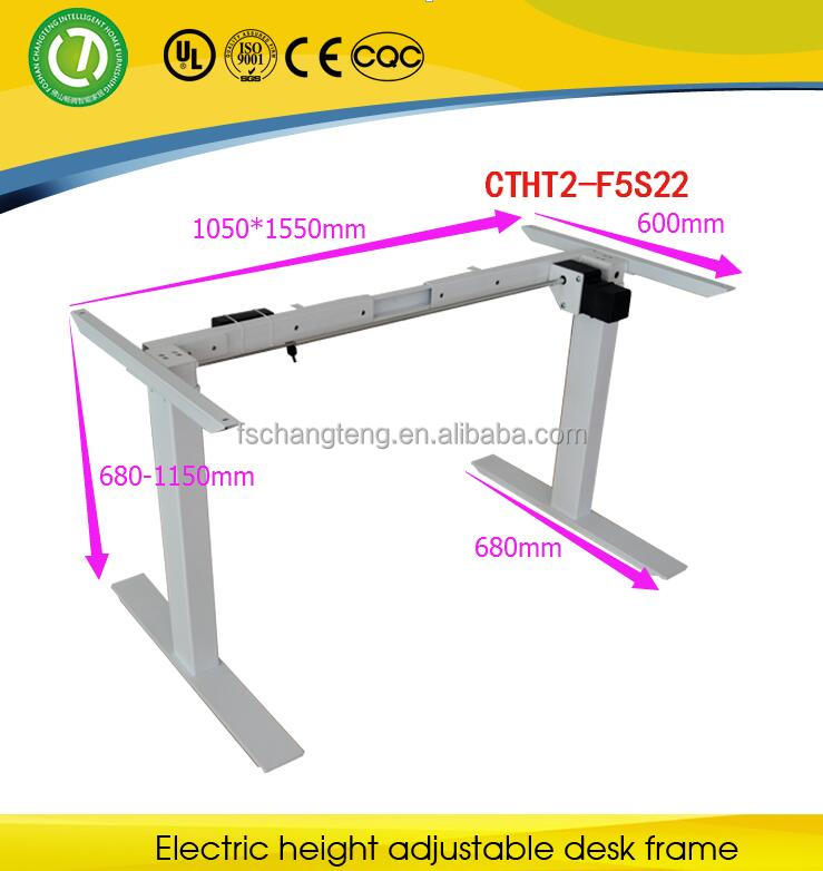 2016 two legs one motor electric rise step sit to standing height adjustable desk