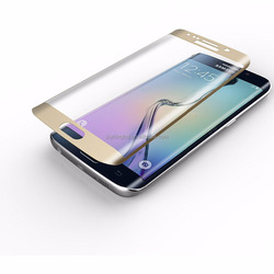 Colorful full cover perfect fit tempered glass film for galaxy s6 edge S6 edge plus Tempered glass screen protector