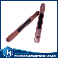 Rectangular recessed pull flush inset sliding door drawer handle