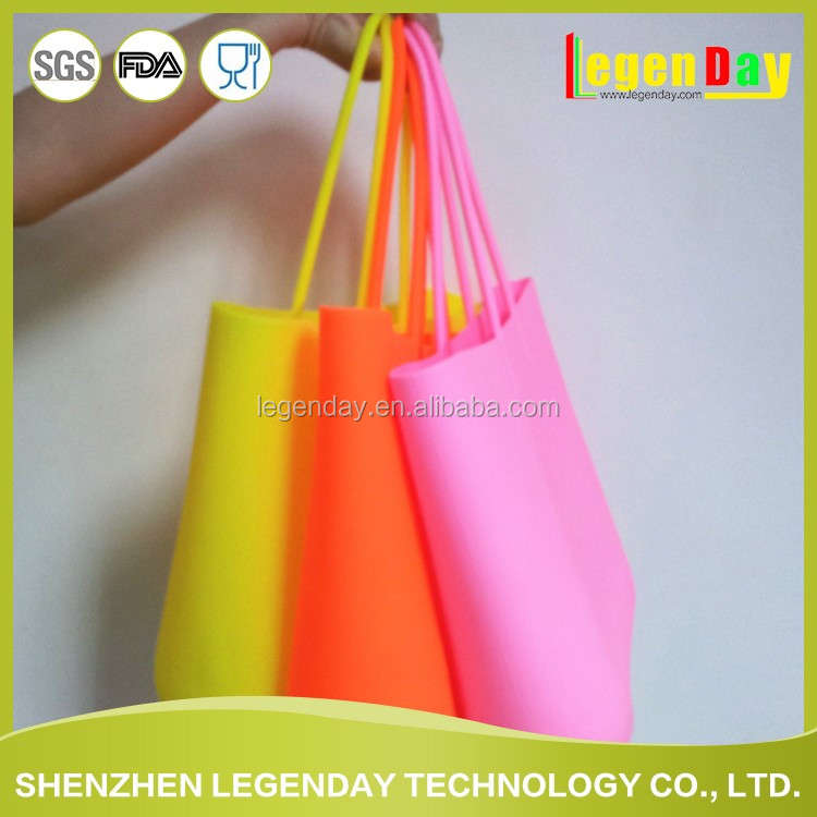 High quality and cheap cute silicone beach tote bag