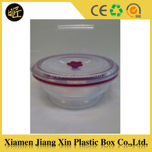 Transparent plastic student lunch box with lid
