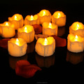 Battery operate flameless led candle light similation glitter led tealight
