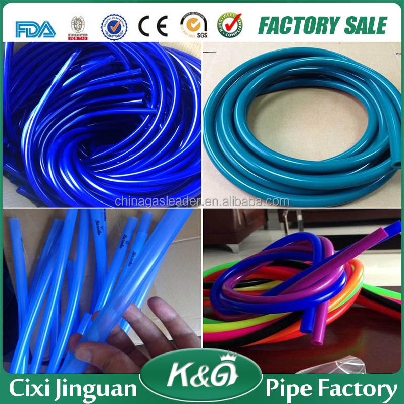 single color flexible rubber silicone hose pipe, hookah silicone hose