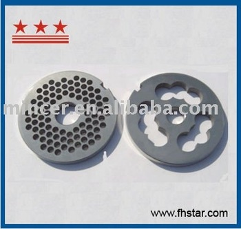 stainless steel or carbon steel meat grinder machine plate and knife