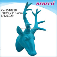 Resin decorative elk animal head statue for wall decoration