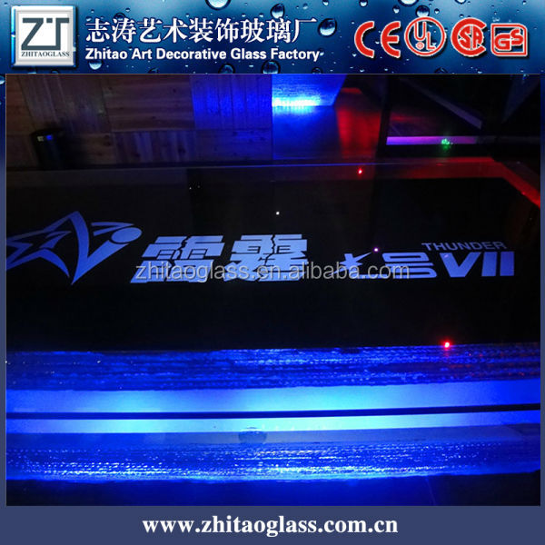 glass LED plastic high bar table for KTV,club,party