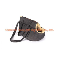 new hot selling products lamb wool pet carrier bag, black denim portable pet carrier,new product alibaba china supplier