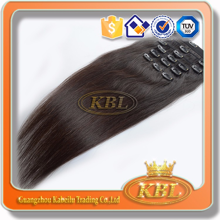 Wholesale price 100% natural afro kinky curly clip in hair extensions