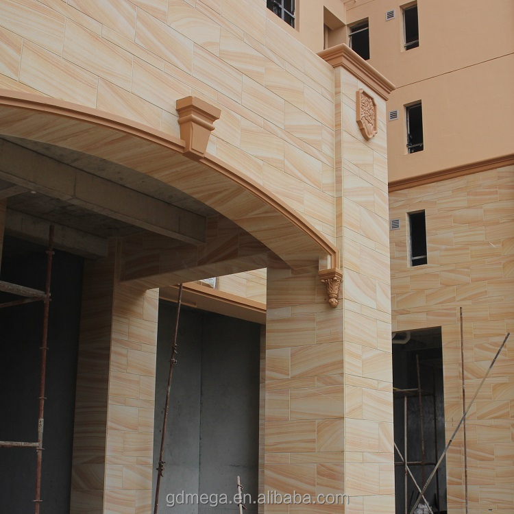 Exterior alkali resistant sandstone wall stone tiles for high end buildings