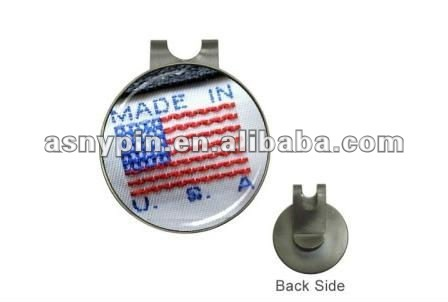 custom logo hat clip ball marker for golf