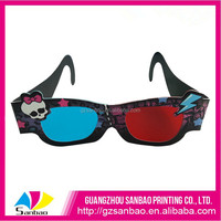 Custom Cute Paper 3d Glasses, Cheap 3d Active Glasses For Sale, High Qualtiy Anaglyph 3d Glasses