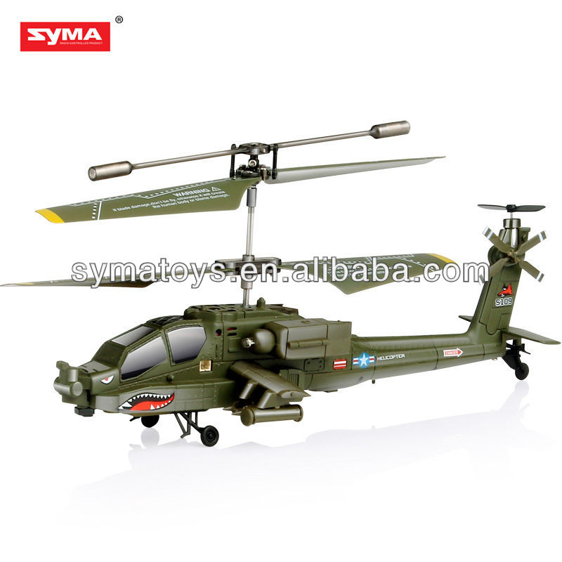 SYMA S109G Apache simulaor 3.5 ch rc fly sharkapache ah-64 rc helicopter