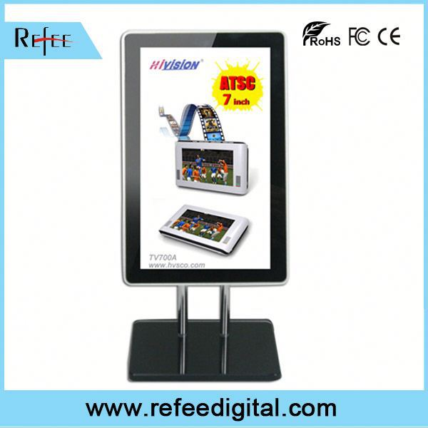 Refee Rolling words on the screen 15.6 inch table top watch stand