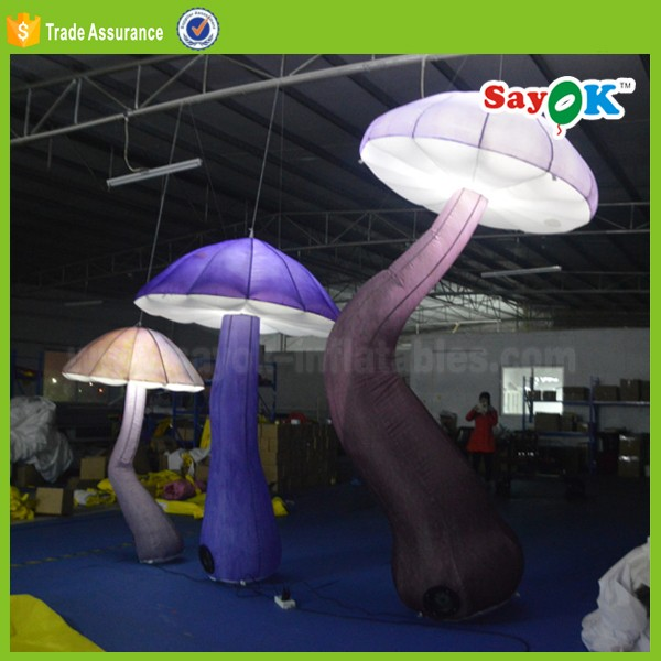 new style giant inflatable mushroom decorations with led light for sale