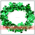 12ft St. Patrick's Day Green Foil Shamrock Wire Garland Party Decoration