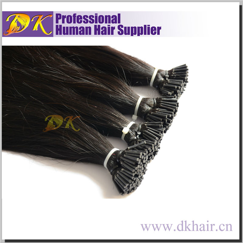 hot sell factory wholesale double drawn pre bonded remy human hair i tip