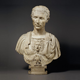 Hand carved stone roman caesar marble bust statue for sale