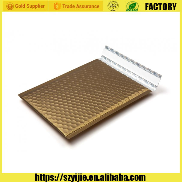 Shockproof gold metallic bubble mailer,glamour bubble mailers,padded envelopes shipping mailing bags
