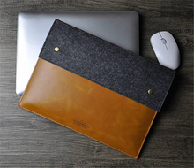 Good Choice genuine leather handmade custom size logo color for apple macbook case, for apple laptop case, felt laptop sleeve