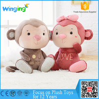 wholesale cut hot sale baby toy happy funny monkey plush toy