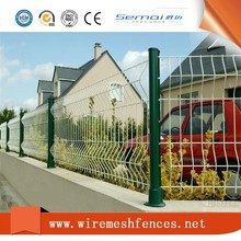 China Supplier pvc coated ornamental wrought iron curved mesh fence