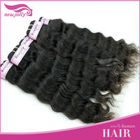 One day delivery, can be dyed, brazilian human virgin hair extensin