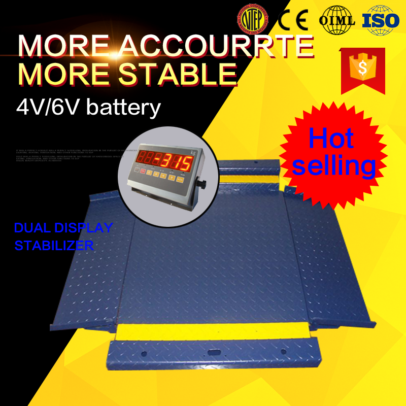 Good quanlity heavy duty ground 3 ton floor hugger electronic platform weighing scale