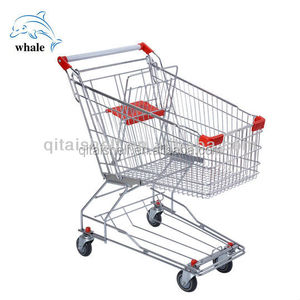 CE & ISO approved wholesale Asia style supermarket trolley shopping cart