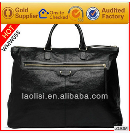 2016 Genuine leather bolsas de rafia for men