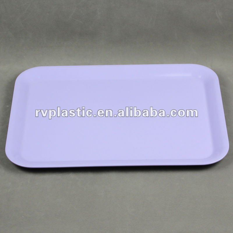 oblong shape melamine serving tray for promotion