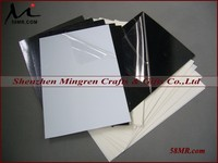 0.2-2.0MM Black and White Self Adhesive Rigid PVC Sheet Page for Wedding Flush Mount Album