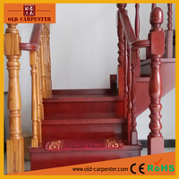 Chinese style solid wood stair parts column & banister
