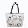 full color printing 12 oz cotton canvas hand bag tote bag