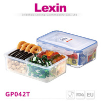 1.2l clear dividers food container keyway plastic storage box