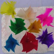 Fashionable cheap colorful artificial feather flowers for sale