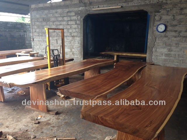Special Offer 4 Meter Acacia Solid Slab Wood Dining Table USD 850