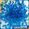 China Irregular Blue Glass Beads Factory