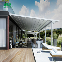 Aluminium retractable canopy pergola top roof awning