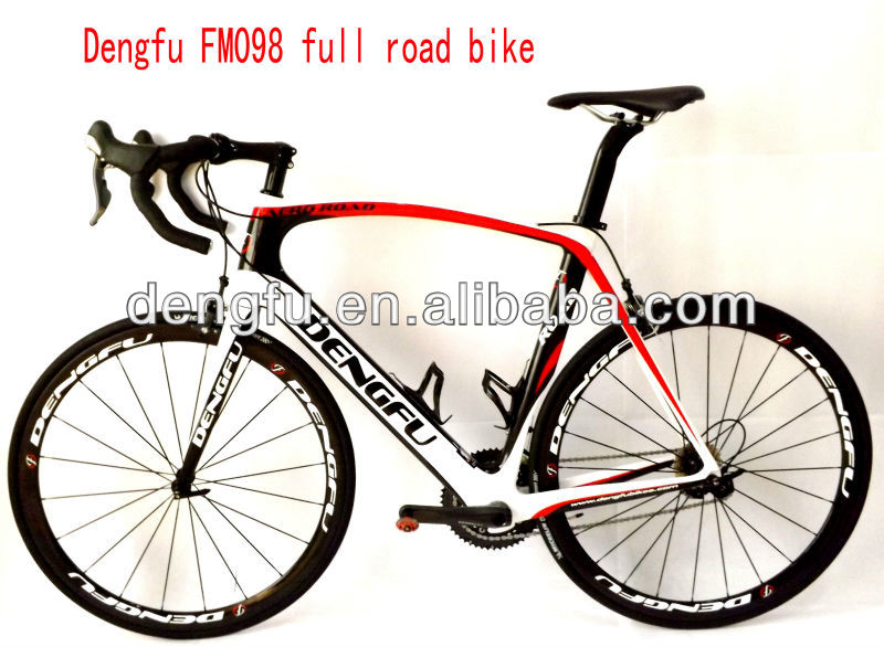 new type, dengfu FM098 full carbon aero road bike frame & 700C carbon clincher wheelset Ultegra 6800 groupset