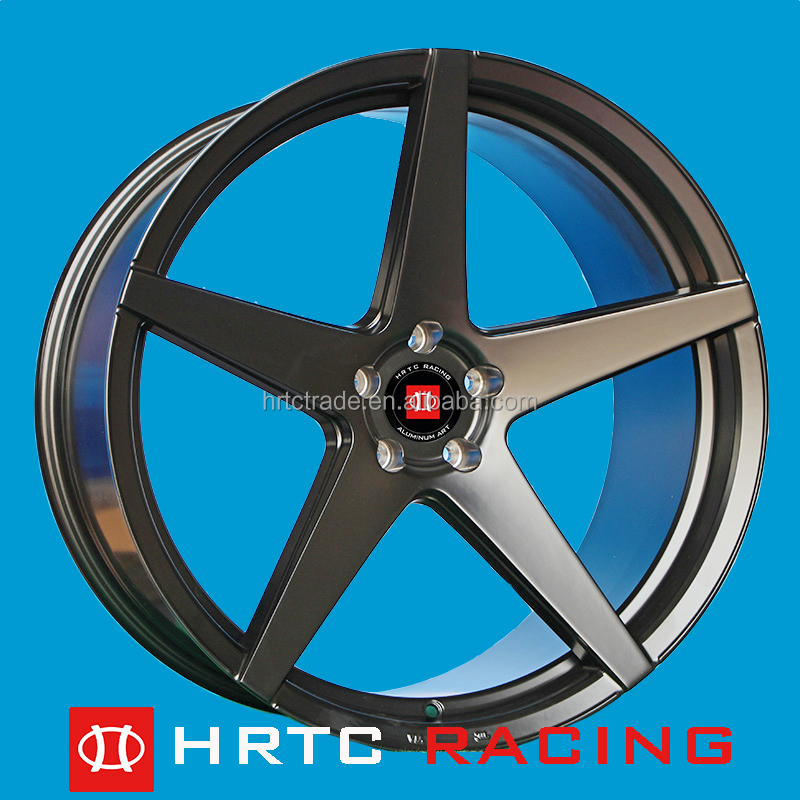 Classic 5 spokes design Sports Rims.<strong>Alloy</strong> wheel 19-22inch modified rims aftermarket wheels PCD5X100-120 machine face