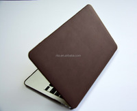 "PU Leather Hard Shell Protective Case for Macbook Pro 13"" 15"" with/without Retina Display(Brown)"