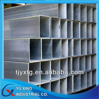 120*125mm ASTM A53 hot-dipped galvanized square pipe in store with lowest prices