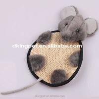 Plush Grey Mouse Cat Toy Sisal Toy