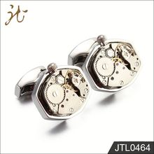 Fashion Nice Quality Sliver Watch Movement Cufflinks