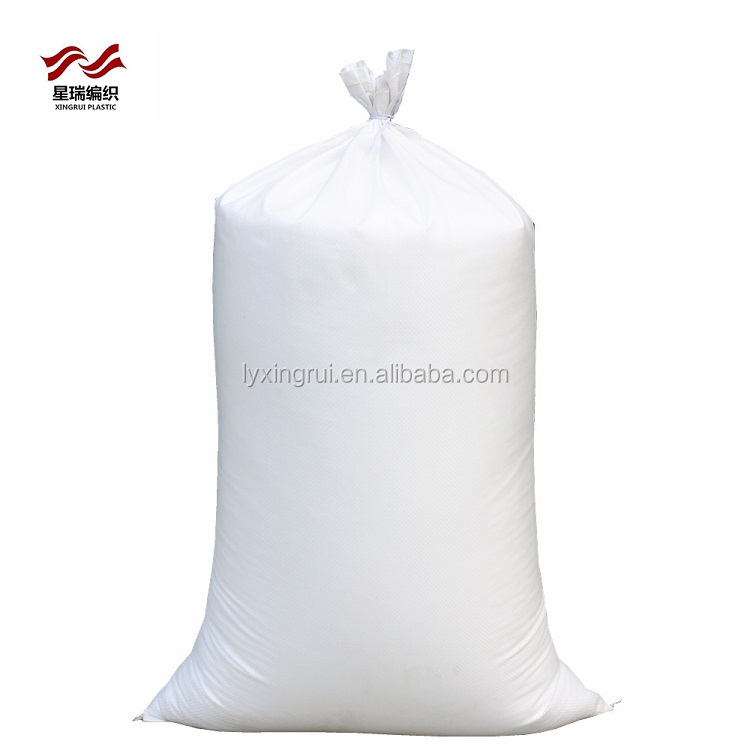 wholesale white color China pp woven bag 50 kg for beans grains packing