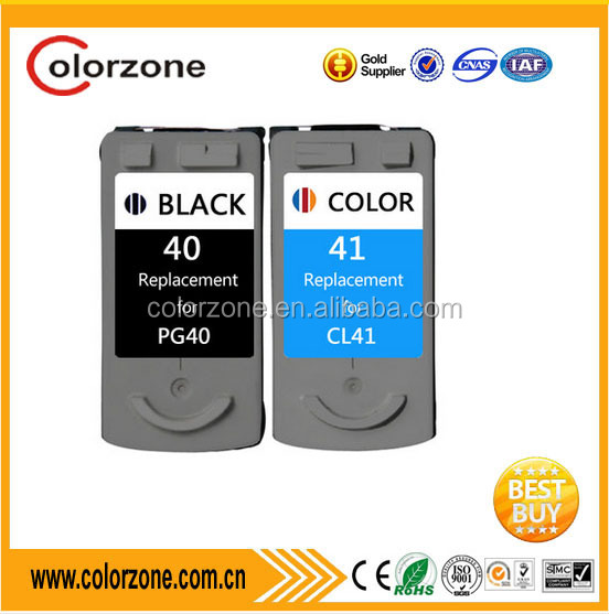 Refillable excellent quality PG40 CL41 ink cartridges for canon pixma ip1880