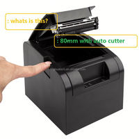 Cheap 80mm pos thermal receipt fiscal printer with display GP800 with USB Port