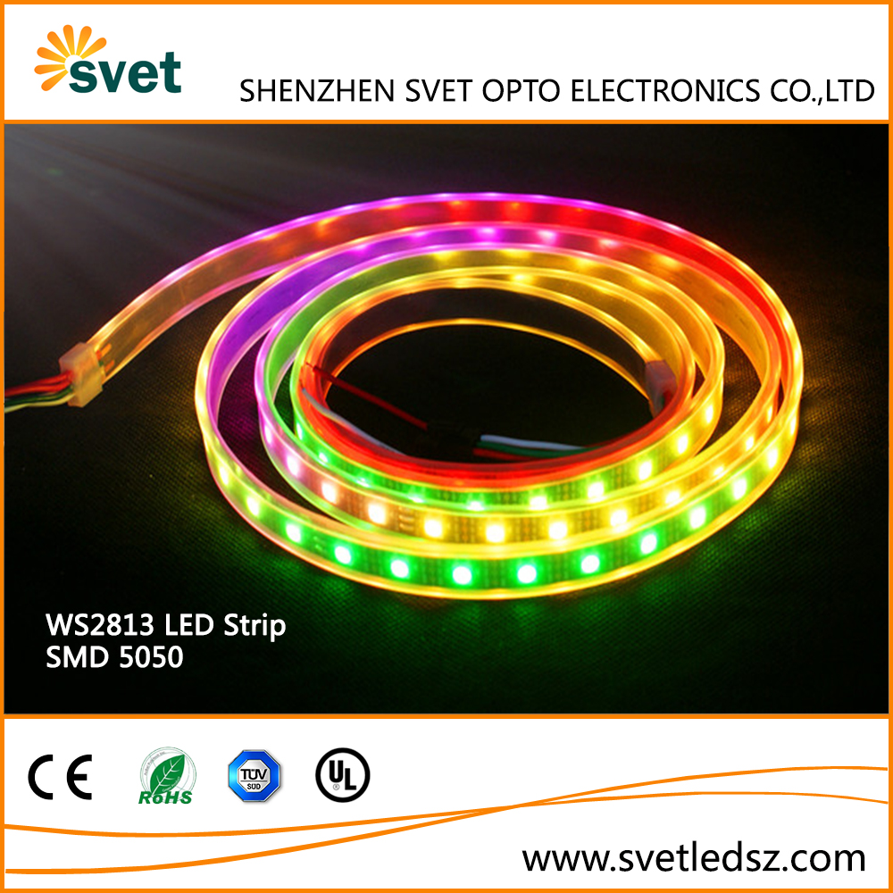 DC5V 60LED/m Strip IP67 Waterproof Addressable RGB Strip Lights WS2813 4 Pin