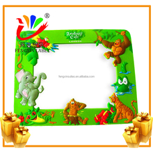 customized photo frame soft pvc magnet with 3d effect