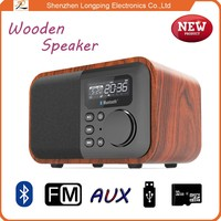 2015 design Mini outdoor for smart phones Wooden cabinet bluetooth speaker built in battery 1800mAh